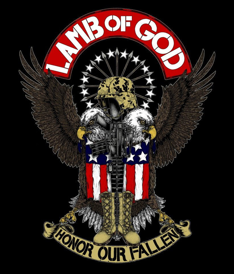 "LAMB OF GOD - ""Honor Our Fallen"" - shirt design by John Santos"