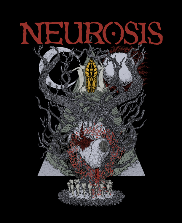 Neurosis 30th Anniversary artwork by John Santos