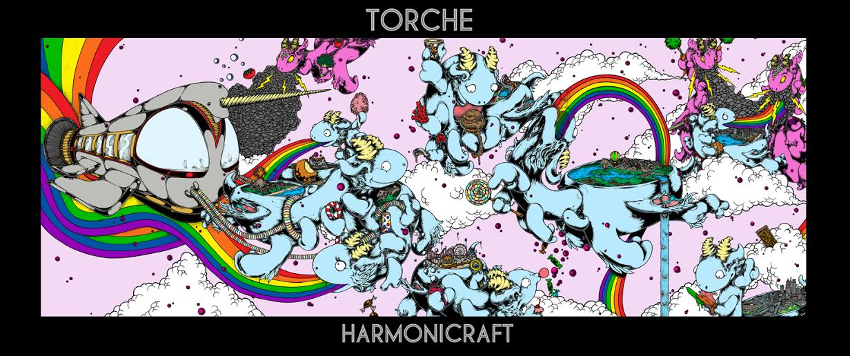"Torche ""Harmonicraft"" album art by John Santos"